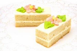 Пирожное «Бисквитное» со сливочным кремом